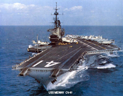 USS MIDWAY  CV-41 | CLICK TO ENLARGE